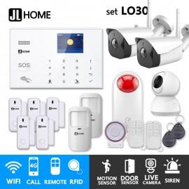 LO30 ชุดสัญญาณกันขโมยบ้านไร้สายและบ้านอัจฉริยะ แจ้งเตือนผ่านการโทร3G-4G/แอพมือถือWifi/SMS ชุดใหญ่เพิ่มวงจรปิด