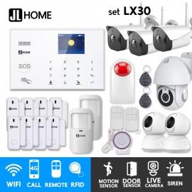 LX30 ชุดสัญญาณกันขโมยบ้านไร้สายและบ้านอัจฉริยะ แจ้งเตือนผ่านการโทร3G-4G/แอพมือถือWifi/SMS ชุดใหญ่จัดเต็ม