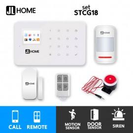 STCG18 ชุดสัญญาณกันขโมยบ้านไร้สาย GSM แจ้งเตือนผ่านการโทร ชุดเริ่มต้น