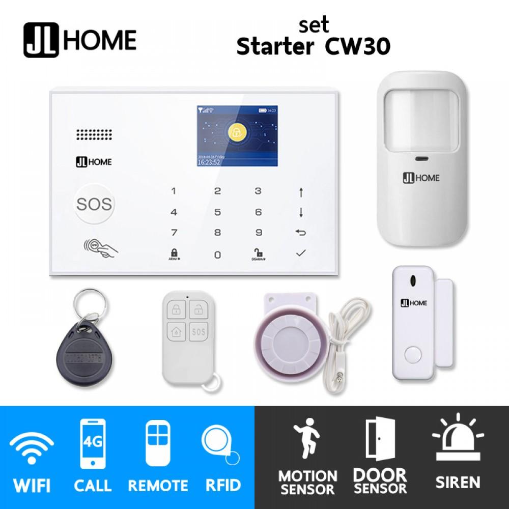 ST30 ชุดสัญญาณกันขโมยบ้านไร้สายและบ้านอัจฉริยะ แจ้งเตือนผ่านการโทร/แอพมือถือ/SMS ชุดเริ่มต้น