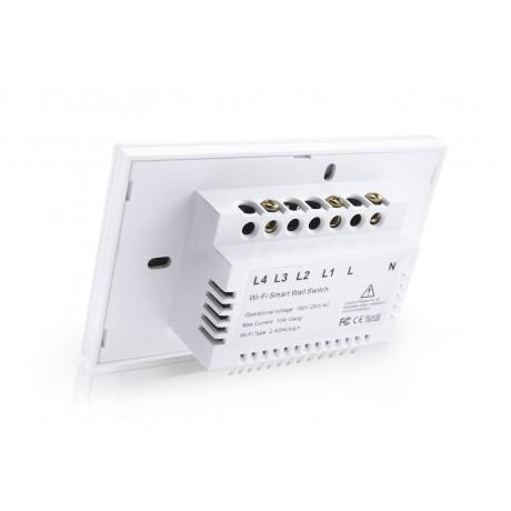 HSWA1 สวิตถ์เปิดปิดไฟอัจฉริยะ 1ปุ่มกด เชื่อมต่อผ่าน Wifi รองรับ 433MHz หน้าปัดกระจกทัชสกรีน