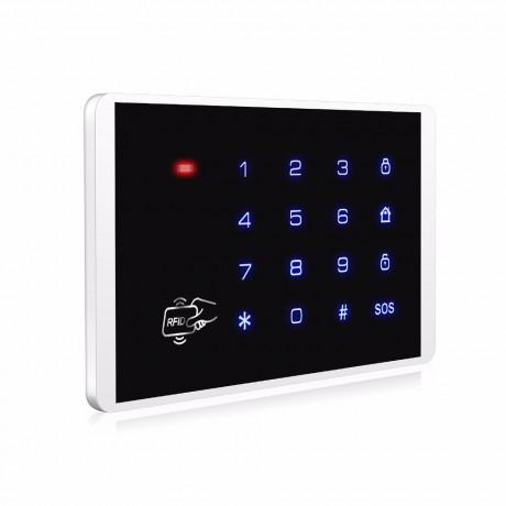 KE16 แป้นควบคุมสัญญาณกันขโมยบ้านผ่านการกดปุ่มและแตะคีย์การ์ดไร้สายแบบทัช