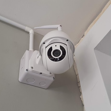 งานติดตั้งระบบสัญญาณกันขโมยบ้านและกล้องวงจรปิดไร้สาย หมู่บ้านโกลเด้นทาวน์ วิภาวดี-แจ้งวัฒนะ